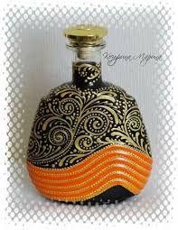 бутылка точечная роспись дерево - Google Search