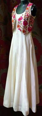 #StylishLongdress #Casuallooklongdressdesign #Latestlongdressonline #Stylishlongdressbuyonline # Maharani Designer Boutique  To buy it click on this link :  http://maharanidesigner.com/Anarkali-Dresses-Online/western-dresses/ Rs.5800. Fabric-cotton with lacket. For any more information contact on WhatsApp or call 8699101094 Website www.maharanidesigner.com Maharani Designer Boutique's photo.