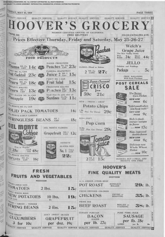 Grocery ad (~1939). http://www.pinterest.com/ashes42/a-bit-of-history-with-a-dash-of-genealogy/