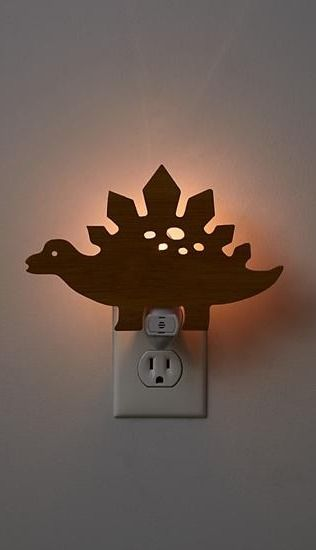 Our wooden Dinosaur Night Light is going to be the best sleepover guest ever. It's so polite it will provide your kid's room or nursery with a soft, soothing glow night after night.