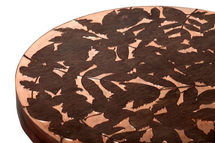 Copper Leaf Table Detail. 2014. Emily Parsons.