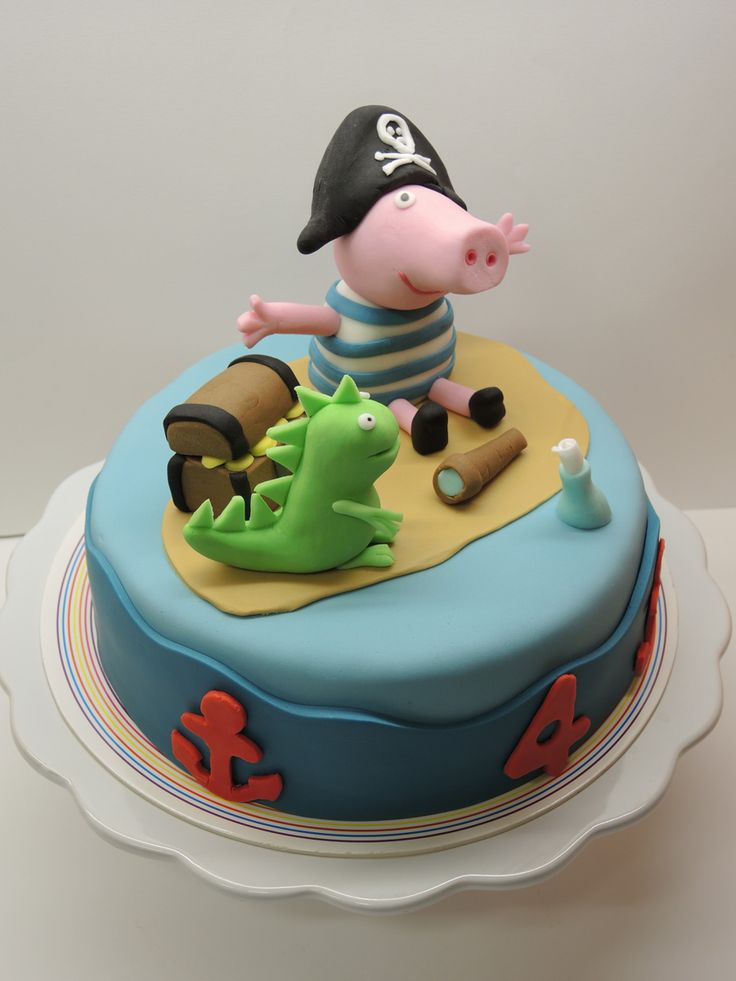 Pirate George Pig & Dino's cake!!! Love it!!!