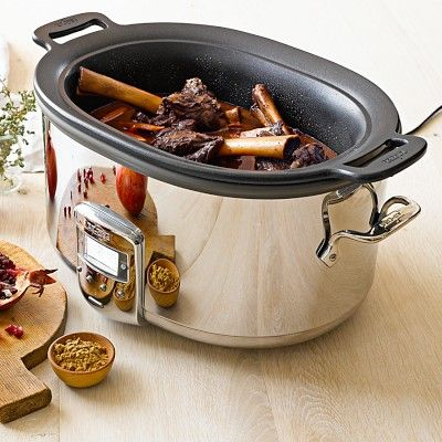 All-Clad 7-Qt. Deluxe Slow Cooker with Cast Aluminum Insert #williamssonoma