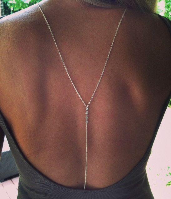 Rock Your  Body Chain Cubic Zirconia Body Chain by TatiRocks, $118.00 Nice back!!!!!!!