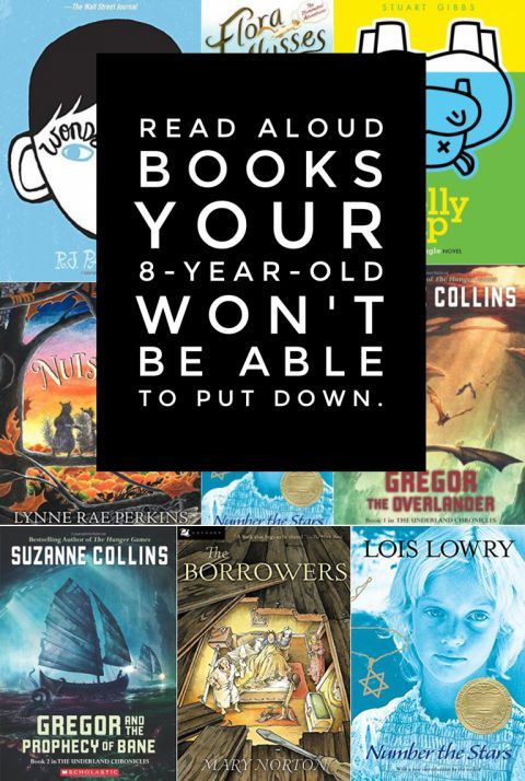 Read aloud books your 8-year-old won't be able to put down. *Great list of chapter book titles for kids