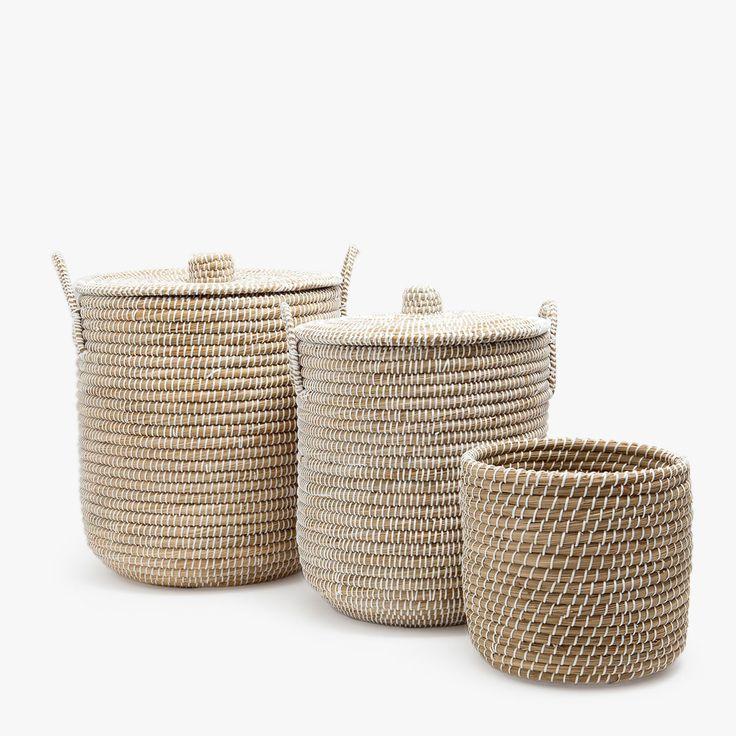 Les paniers de lautomne 2017 chez zara home petits et grands paniers tressés en papier bois ou métal pour une maison pleine de petits détails