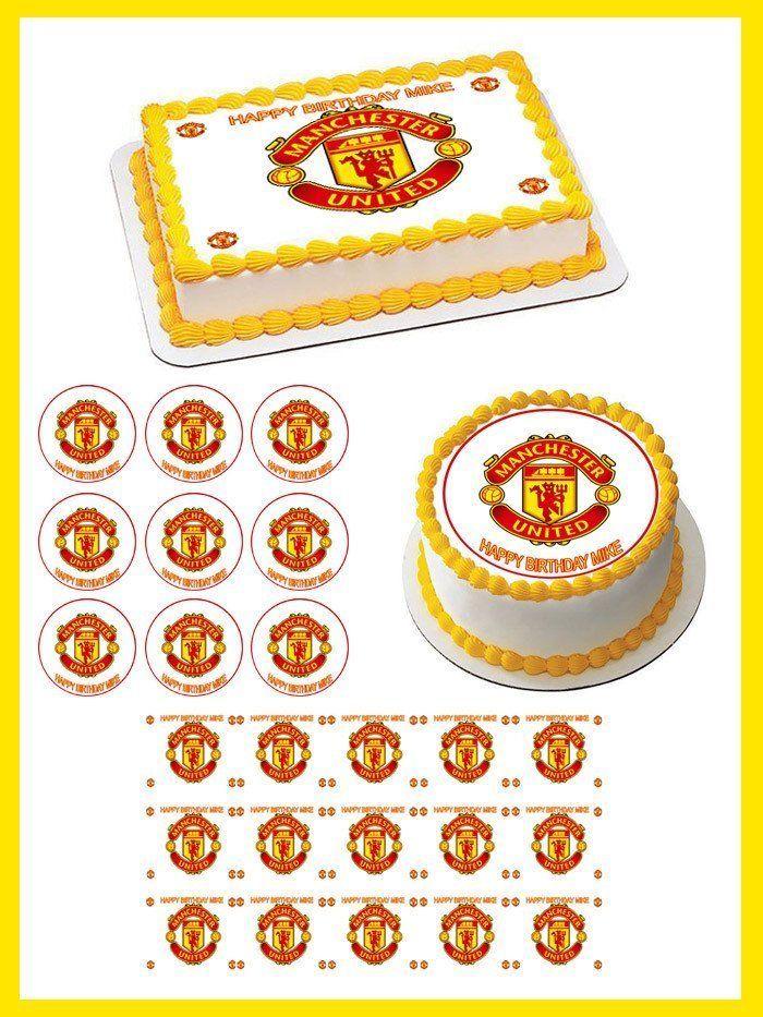 Manchester United Edible Birthday Cake Topper OR Cupcake Topper, Decor #BirthdayChild