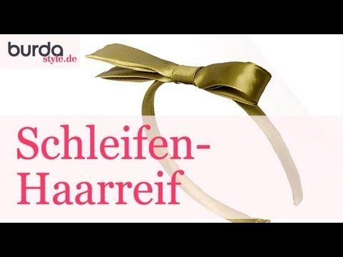 burda style: Schleifen-Haarreif  – Video: burda style/Lena Klippel