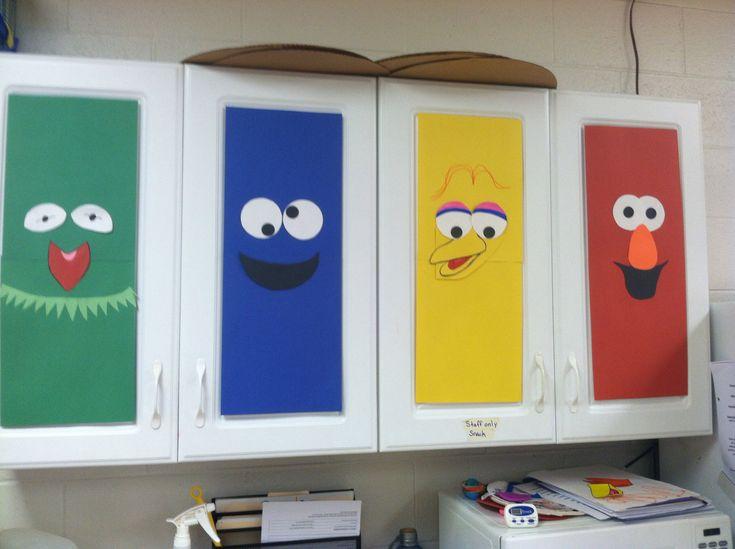 Preschool classroom cabinet decorations my classroom pinterest preschool classroom - Kindergarten door decorating ideas ...