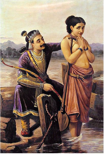 by Raja Ravi Varma. 18th Century.