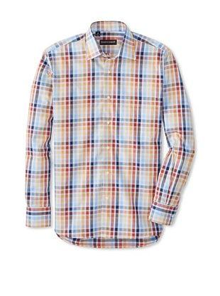 61% OFF Kenneth Gordon Men's Flannel Shirt (Multicolor)