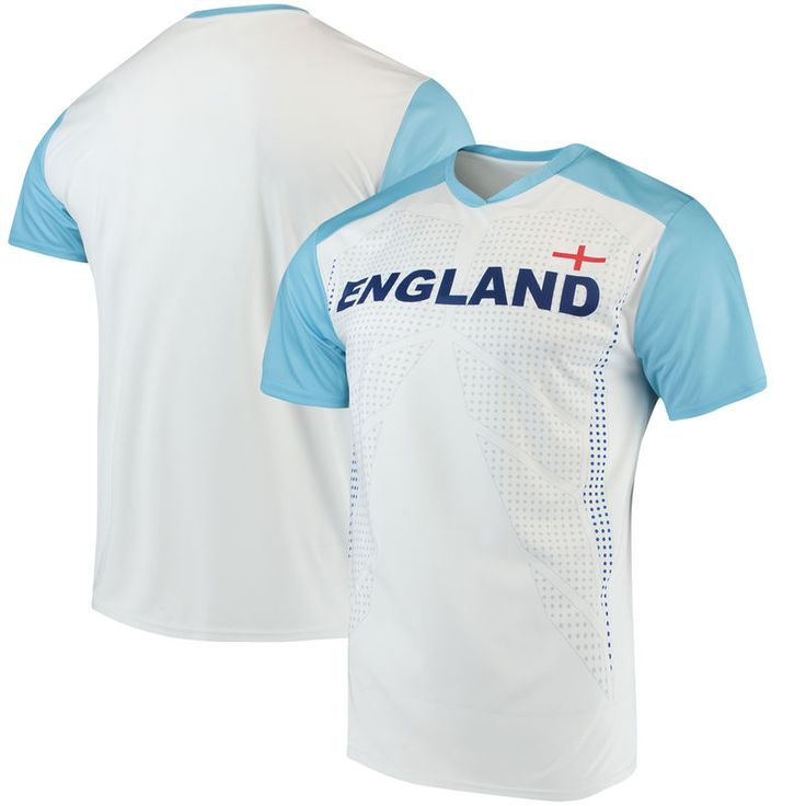 England National Team Federation T-Shirt - White/Light Blue