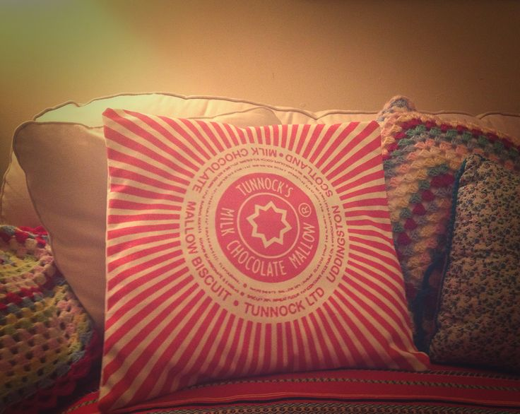 Not as tasty as the original - but I love it! Homemade tunnocks cushion