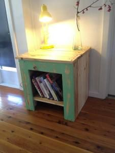 Recycled Pallet Bedside Table