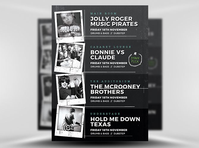 Best Posters Images On   Flyer Template Concert