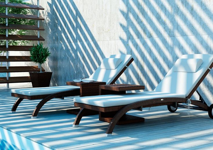 Leżanka LUNA - prod. Oltre Outdoor Indoor Design (meble ogrodowe technorattan meble technorattan meble ekskluzywne meble ogrodowe technorattan zestawy ogrodowe z technorattanu meble tarasowe, Garden Space)