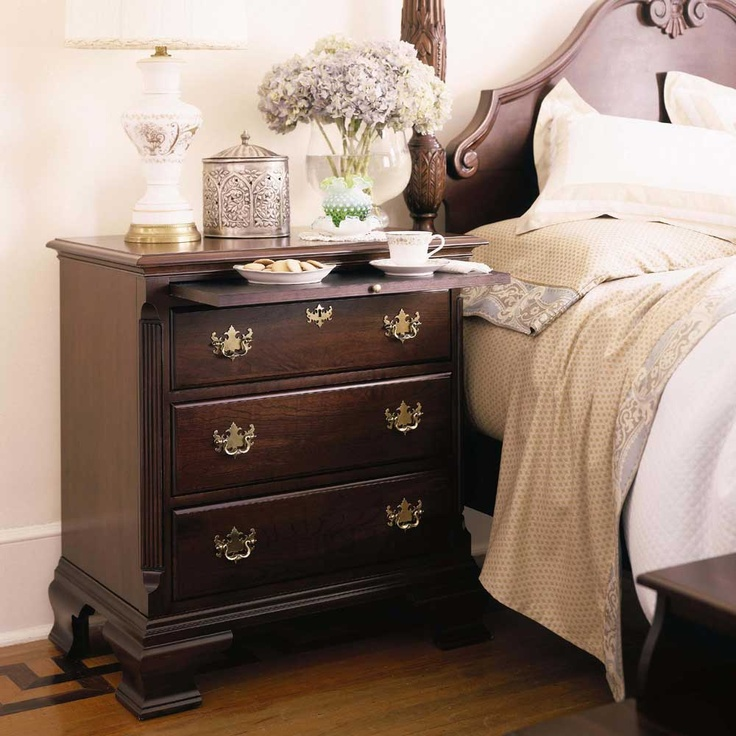 Carriage house bedside chest by kincaid furniture for Kincaid american journal bedroom furniture