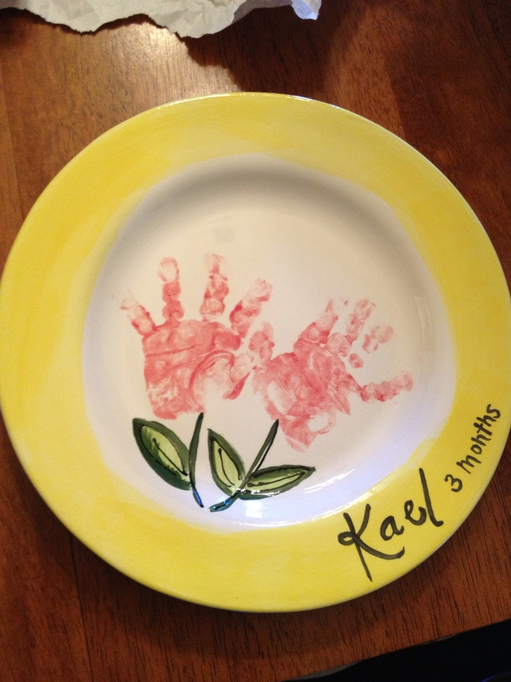 90 best images about crafts handprints footprints on for Handprint ceramic plate ideas