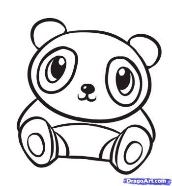 How To Draw A Cute Panda Step By Forest Animals