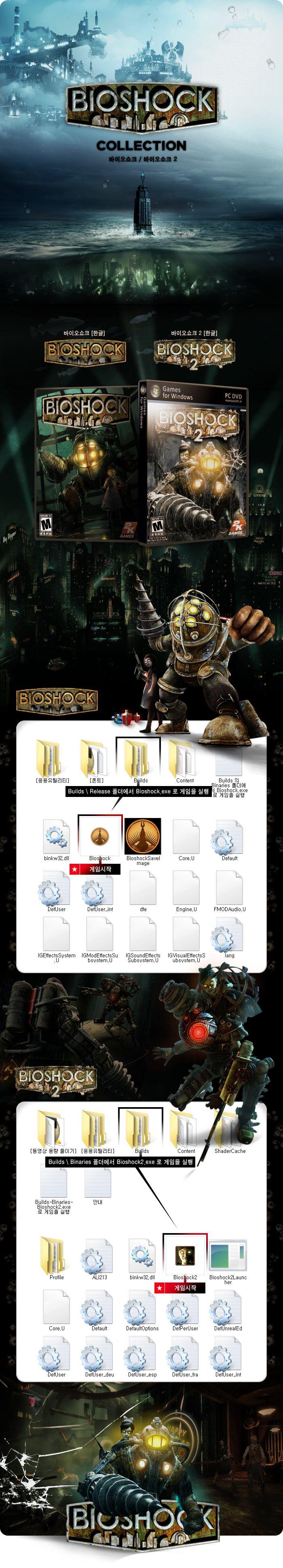 바이오쇼크 Bioshock 1+2 (한글/무설치) (압축: 8.99GB / 해제: 14.4GB) 토렌트