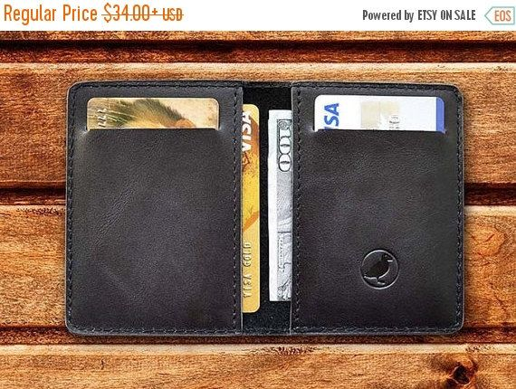 Mens Wallet Leather Front Pocket Wallet For Him Gift by zhenique
