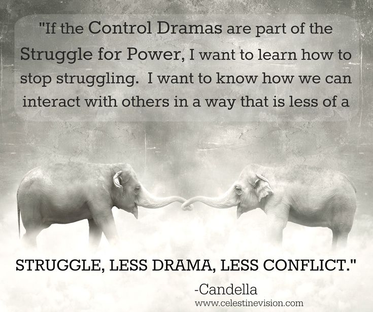 How to Respond to Control Dramas -- As so many others, when I read the Celestine Prophecy, I got really excited that James Redfield was able to put into words so many of the things I had been experiencing and seeing in my life.