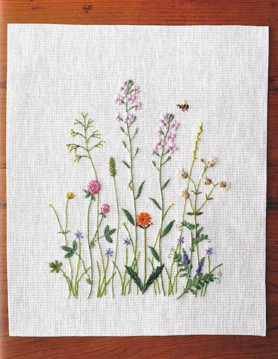 Best images about embroidery flowers leaves trees
