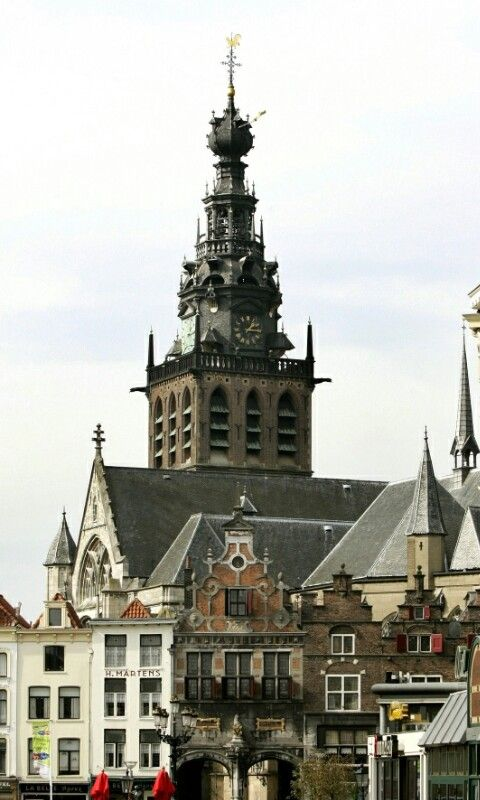 St.Stevens Church, year 1254 height 71 meter. Nijmegen Gelderland The Netherlands.