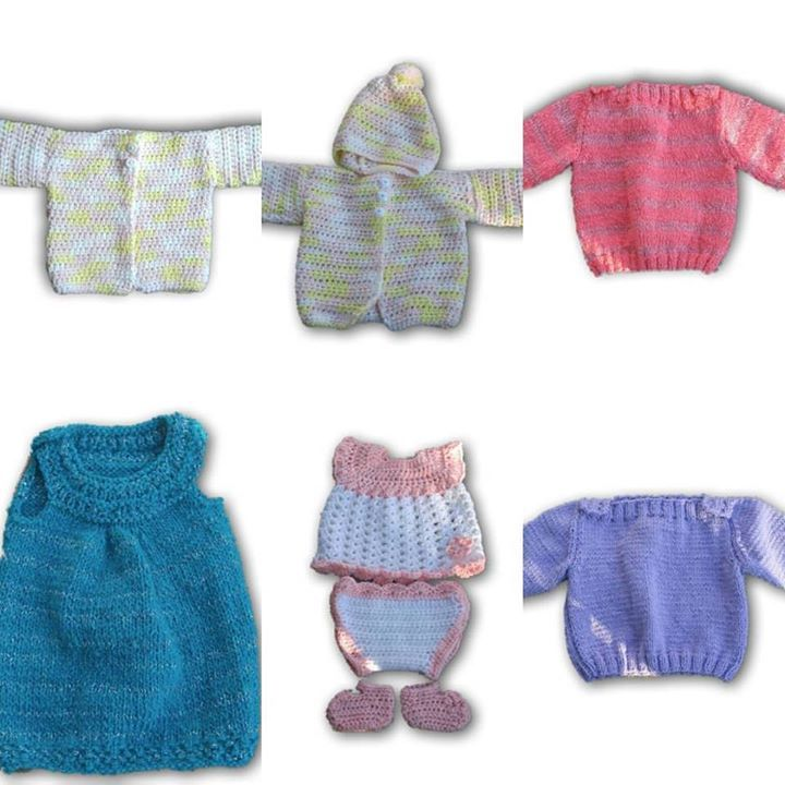 Baby outfits I have been working on the past few months. #ThatsMomMagick #knitting #baby #crochet #knit