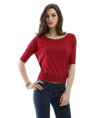 Doublju Women Roundneck Loose Shirt CHARCOAL L | My Clothing Online Store