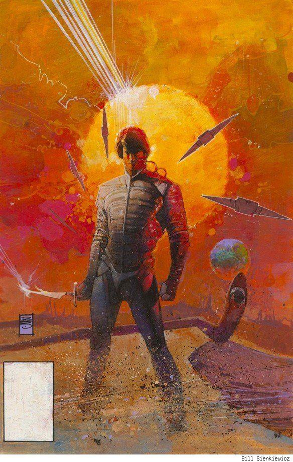 Marvel Comics' DUNE adaptation cover by Bill Sienkiewicz
