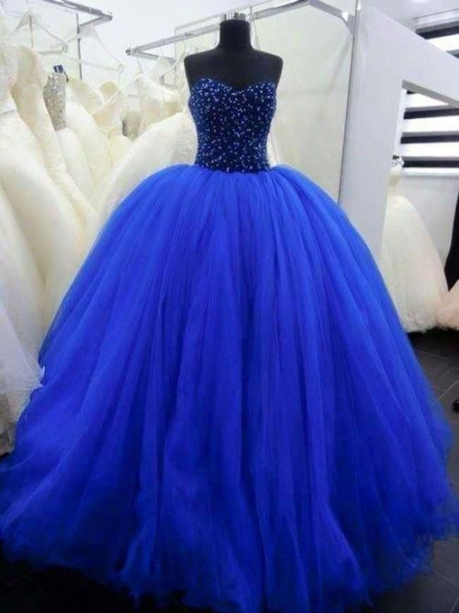 Plus Size Prom Dresses Royal Blue Princess Quinceanera