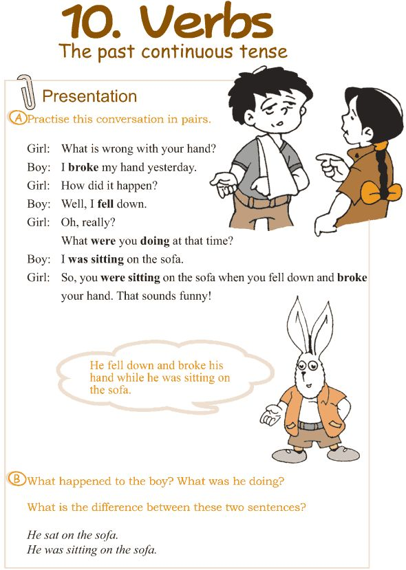 Grade 3 Grammar Lesson 10 Verbs – the past continuous tense