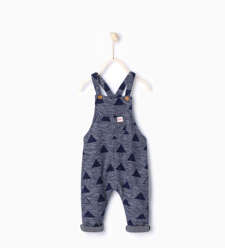 Latzhose mit Dreiecken-Kleider und Overalls-Baby Mädchen | 3 Monate bis 3 Jahre-KINDER | ZARA Deutschland