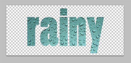 Photoshop Tutorial words made from photos