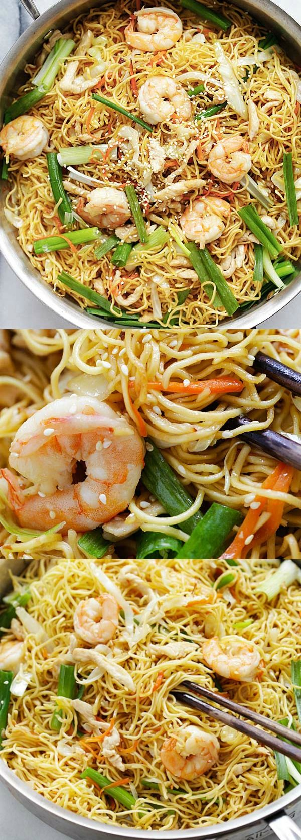 Chow Mein – quick and healthy Chinese fried noodles Chow Mein recipe that anyone can make at home. Tastes so much better than takeout | rasamalaysia.com