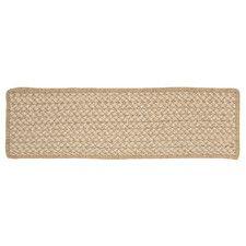 Best Natural Wool Houndstooth Tea Stair Tread Stair Tread 400 x 300