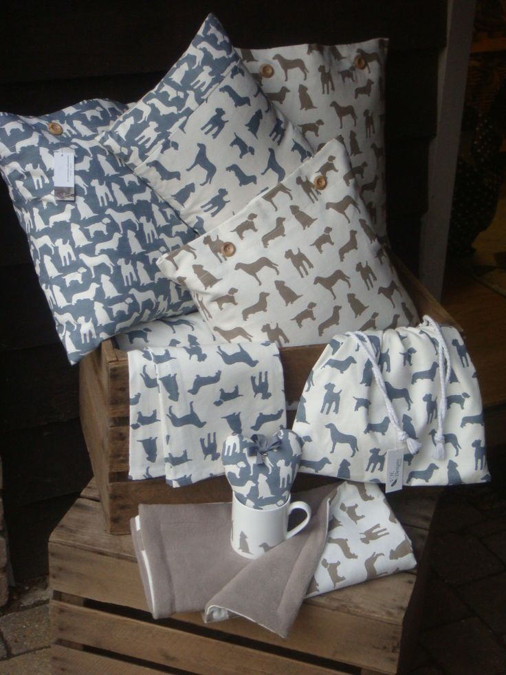 Collection of uk Designer DOGS . all cushions , bags and blankets  made by V.H.DESIGNS