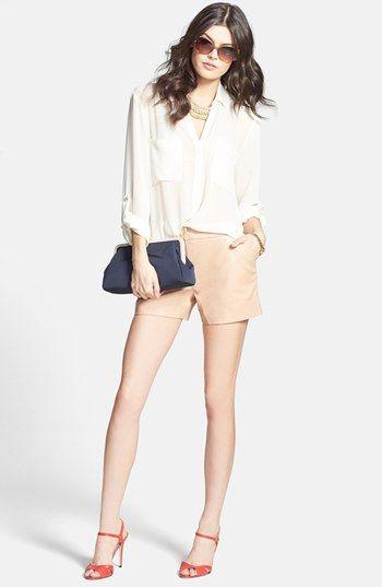 SJP 'Anna' Sandal, Sanctuary Tunic Top & Ted Baker London Leather Shorts | Nordstrom #sweepsentry