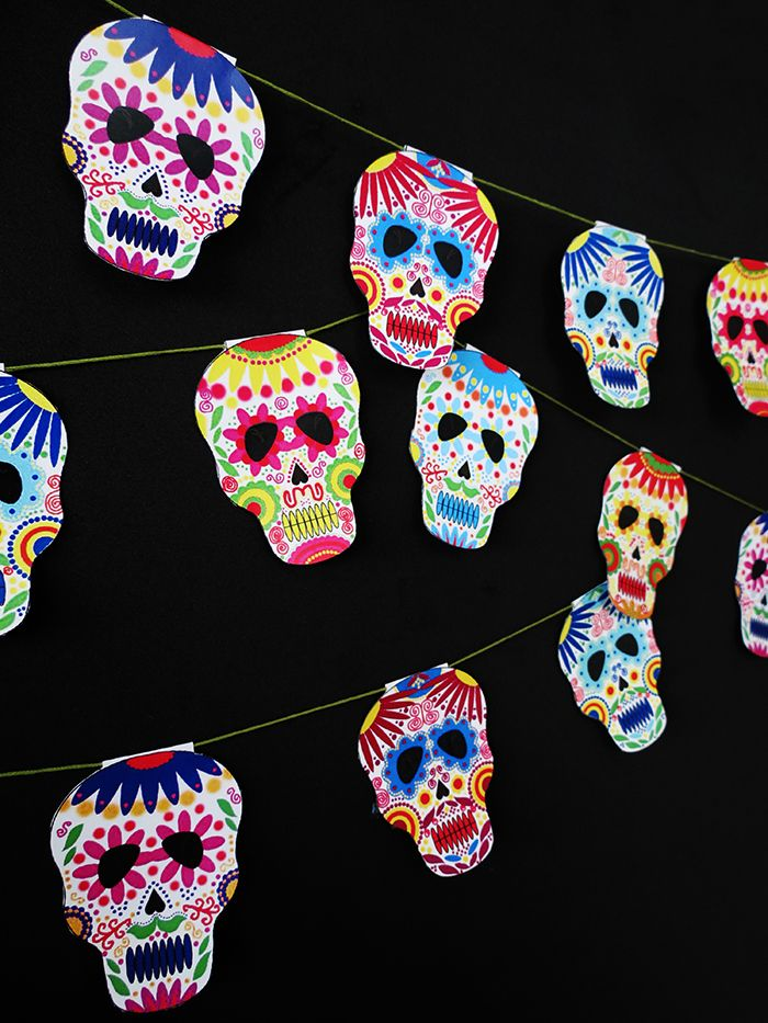 Ohoh Blog - diy and crafts: Halloween calavera skull garland