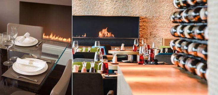 Zu Hause oder im Restaurant? Wo magst du lieber essen? Planika #kamin #Restaurant #Feuer #Essen #genießen