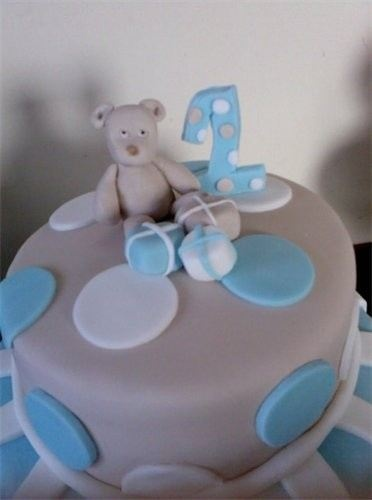 1st Birthday cake : this chocolate and vanilla two tier bespoke cake was for my nephews first birthday.  With handcrafted decoration and bear.