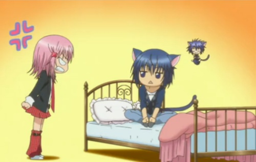 Ikuto and Amu - Shugo Chara. I seriously don't get why she gets so annoyed with him. Really?