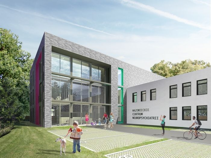 Masovian Centre for Neuropsychiatry in Warsaw, Poland - design by Archimed Architecture, rendering