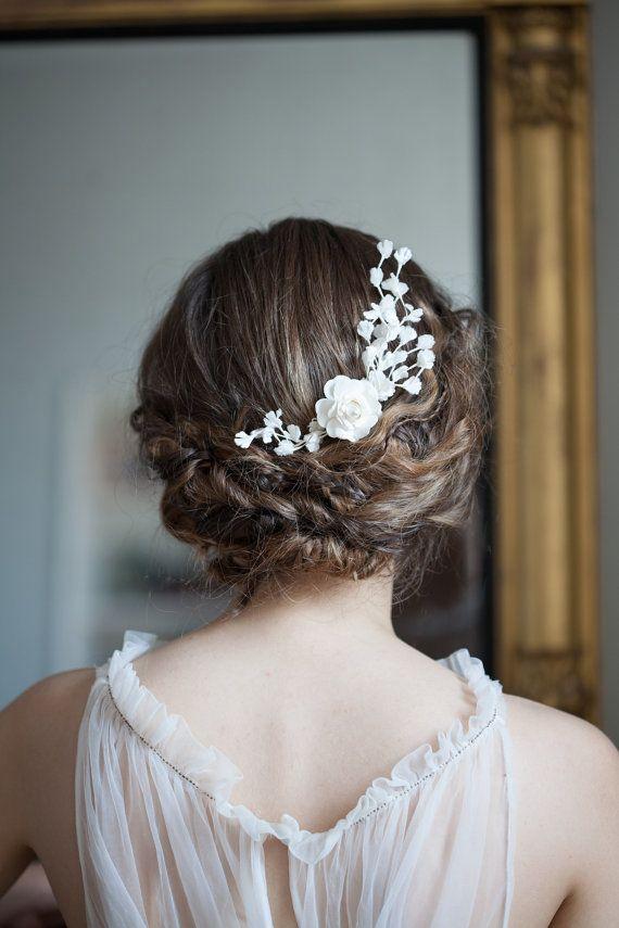 Vintage Hochzeit Headpiece Bridal Haar Zubehör Haare von AgnesHart