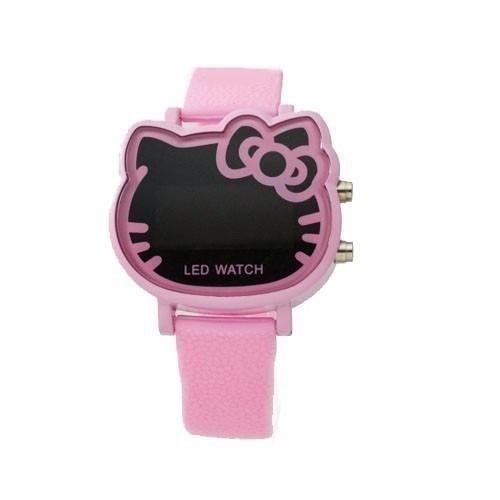 Foto 1 - Relógio De Pulso Adolescente/Criança Hello Kitty Led Digital