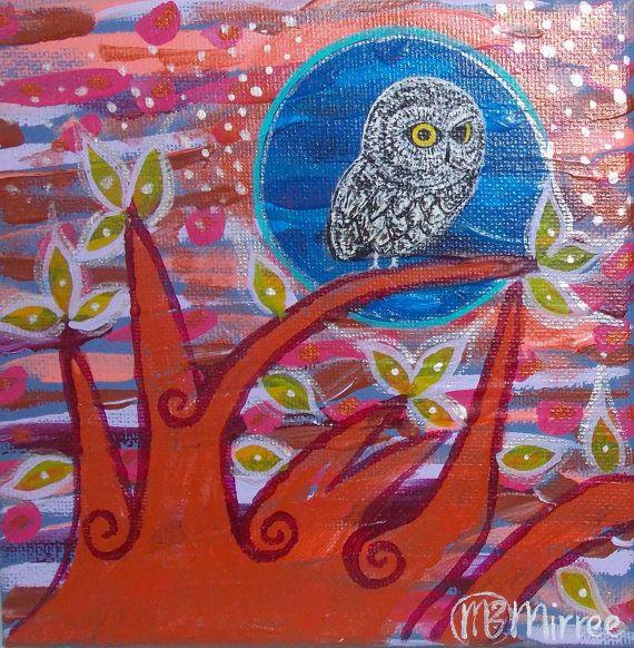 Day Owl 2 Contemporary Aboriginal Art by DreamsofCreationAust