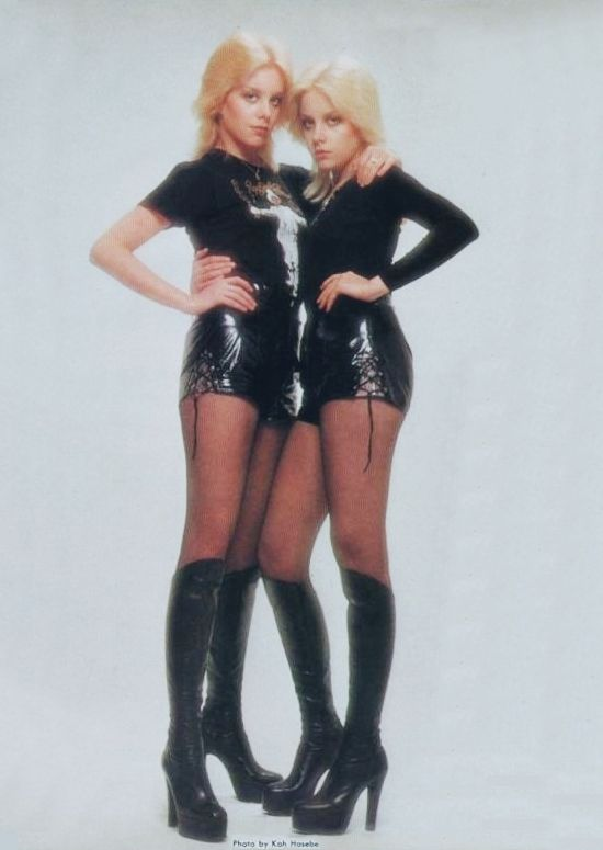 Cherie & Marie Currie. Boots