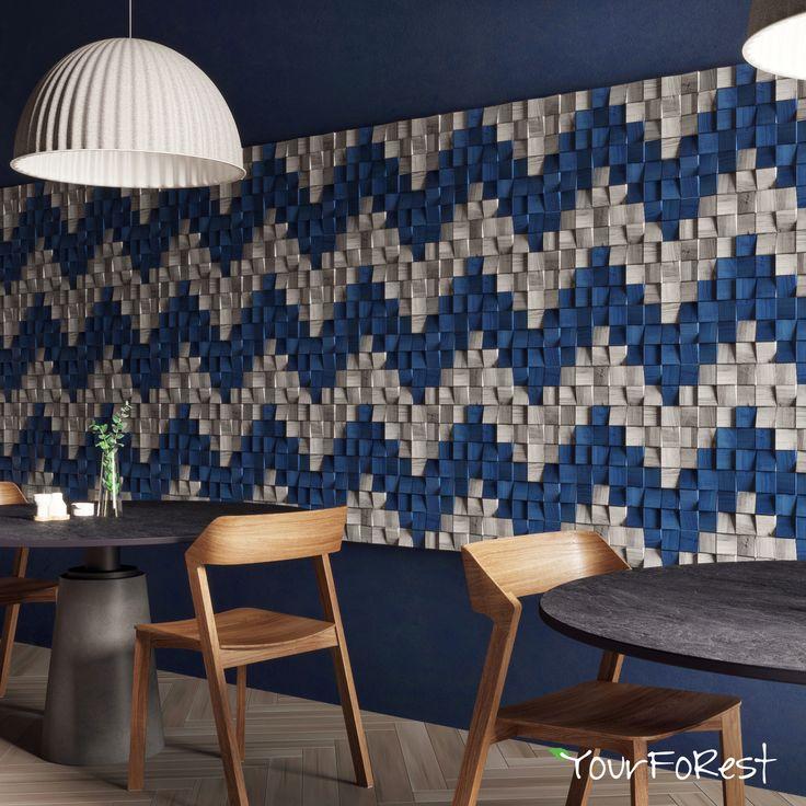 Mosaic ornament on wooden Mosaic Pixels panels Panels design: YourFoRest Interior design: Alena Prokhorova #yourforest #yourforestpanels #woodenpanels #woodendecor #mosaic #interiordesign #madeinukraine #wallcladding #cladding #panelling #woodpanelling #wood #mosaic #walldecor