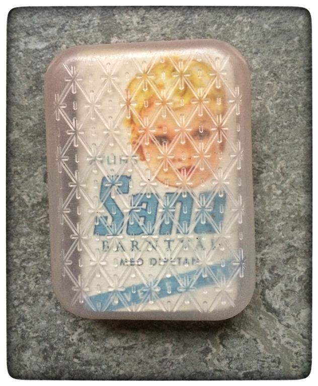 Vintage Sana barntvål 1950 originalförpackning Raritet tvål på